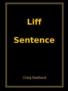 Liff Sentence cover page