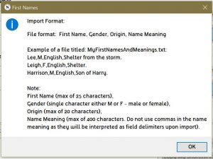 format details for custom name files